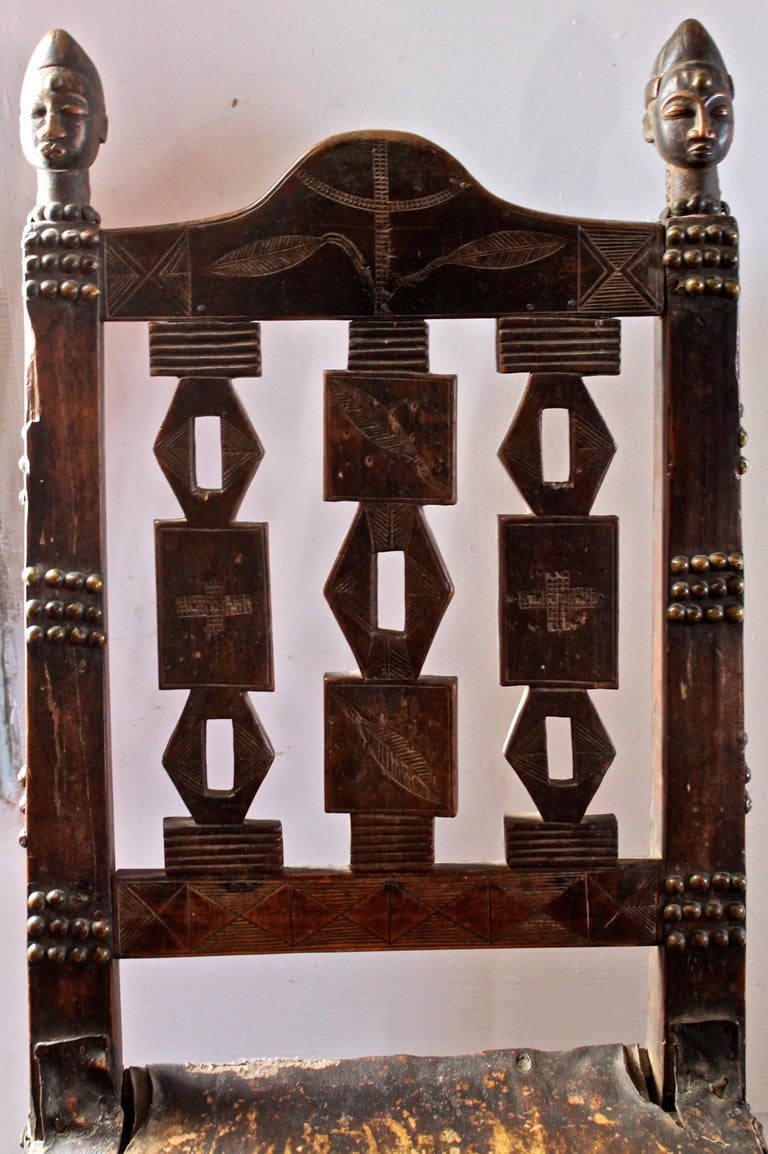 Superb and Rare 19th Century Baule Chair from the Ivory Coast For Sale 2