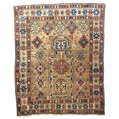 Superb Antique Caucasian Kuba Prayer Rug Dated 1845