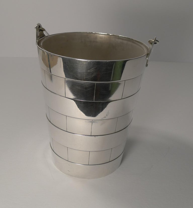 Superb Antique English Ice Bucket or Pail by Atkin Brothers, circa 1910 For Sale 4