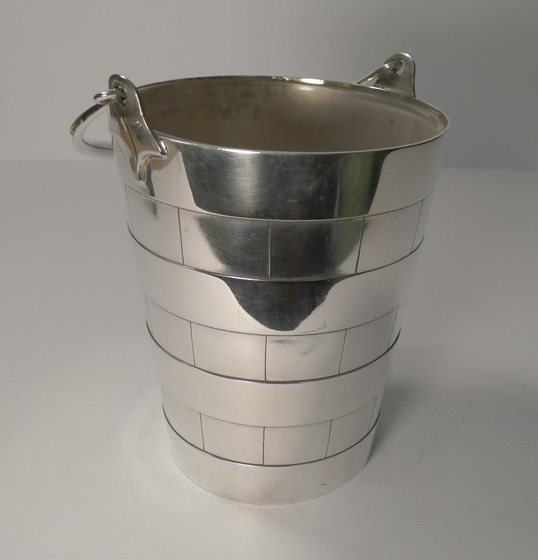 Superb Antique English Ice Bucket or Pail by Atkin Brothers, circa 1910 For Sale 5