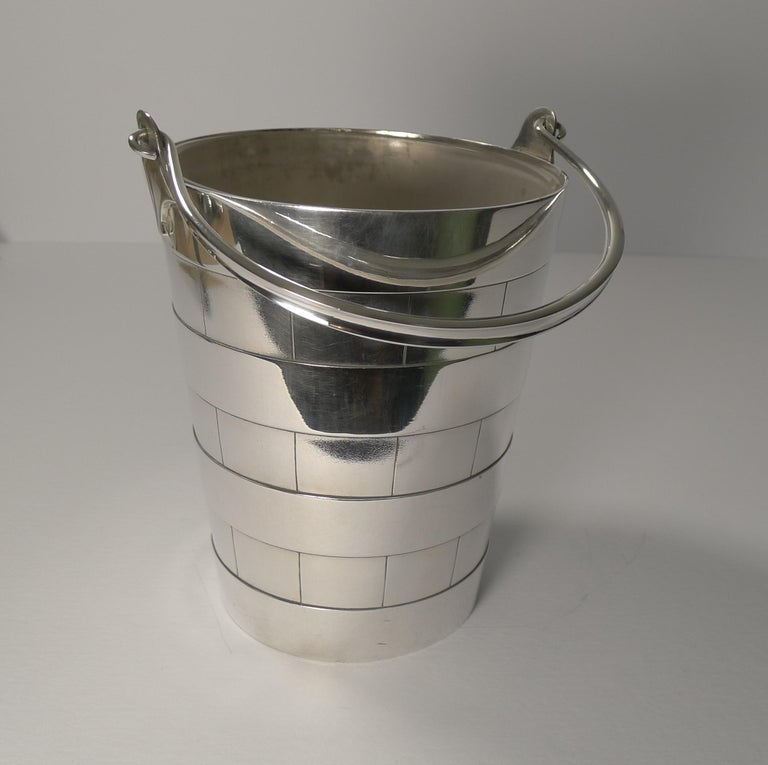 Superb Antique English Ice Bucket or Pail by Atkin Brothers, circa 1910 For Sale 6