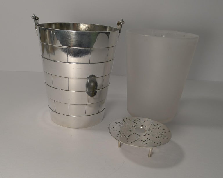 Early 20th Century Superb Antique English Ice Bucket or Pail by Atkin Brothers, circa 1910 For Sale