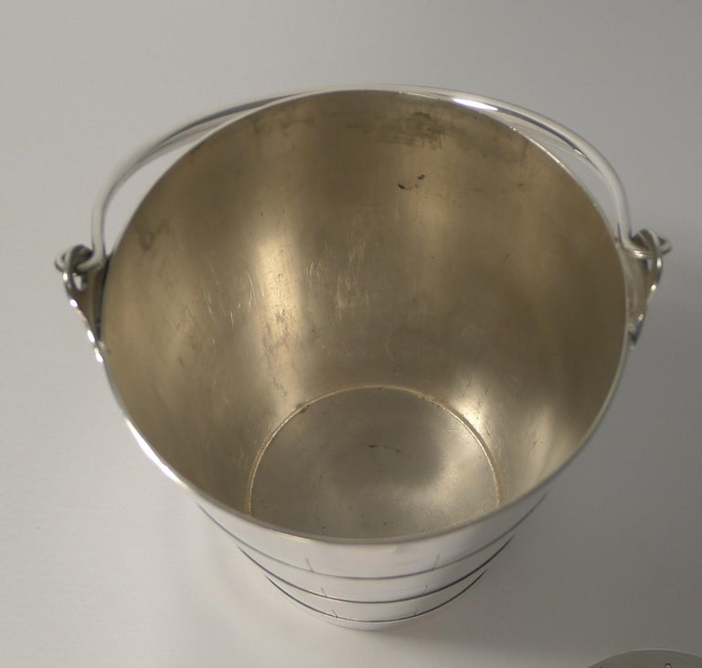 Superb Antique English Ice Bucket or Pail by Atkin Brothers, circa 1910 For Sale 1