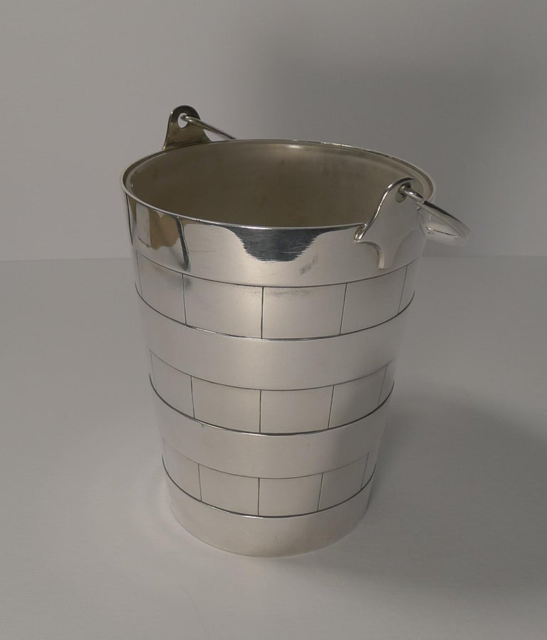 Superb Antique English Ice Bucket or Pail by Atkin Brothers, circa 1910 For Sale 3