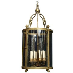 Superb Antique French Louis XVI Style Gilt Bronze and Glass Multi Light Lantern