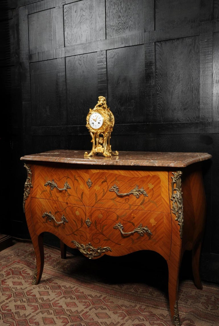 Superb Antique French Rococo Ormolu Clock with Visible Pendulum by Emile Colin For Sale 4
