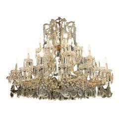 Superb Antique Maria Theresa 32 Lite Austrian Crystal Chandelier