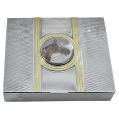 Superb Antique Sterling, Gold and Crystal Box