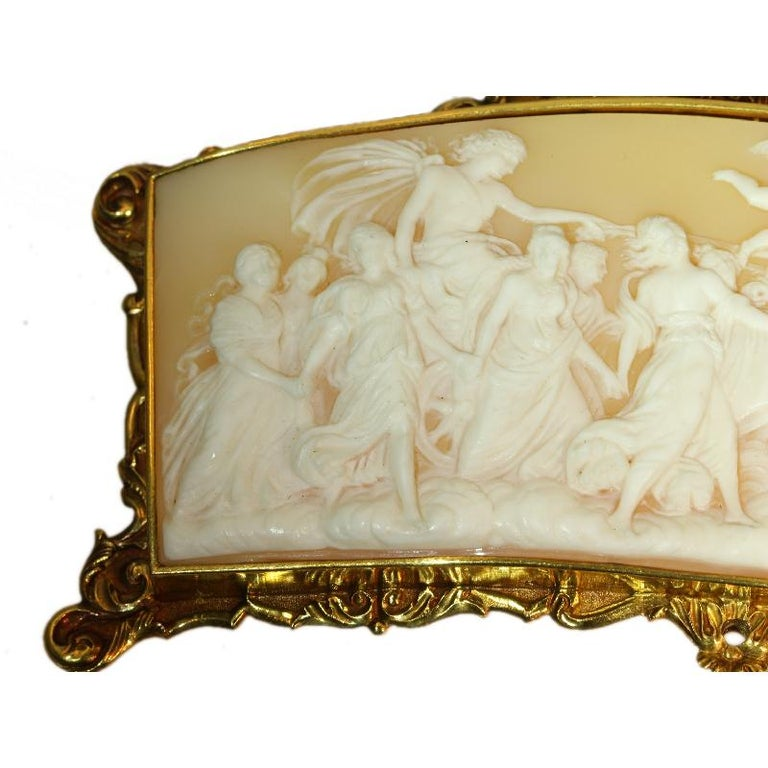 Superb Baroque Style French Cameo With Gold Mounting For