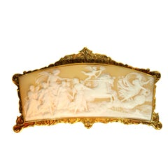 Superb Baroque Style French Cameo with Gold Mounting