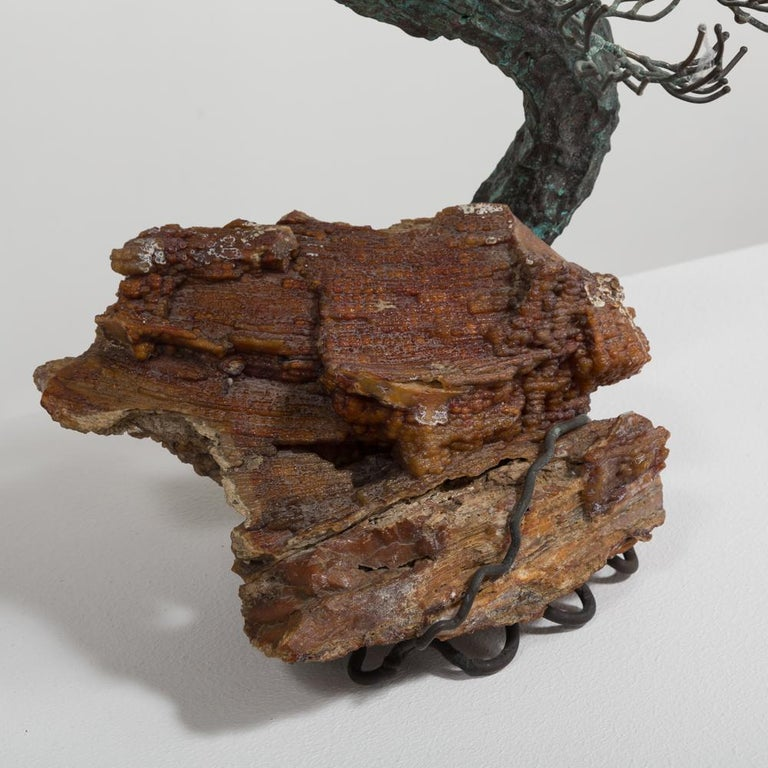 American Superb Bronze Bonsai Tree Table Sculpture, 1960s For Sale