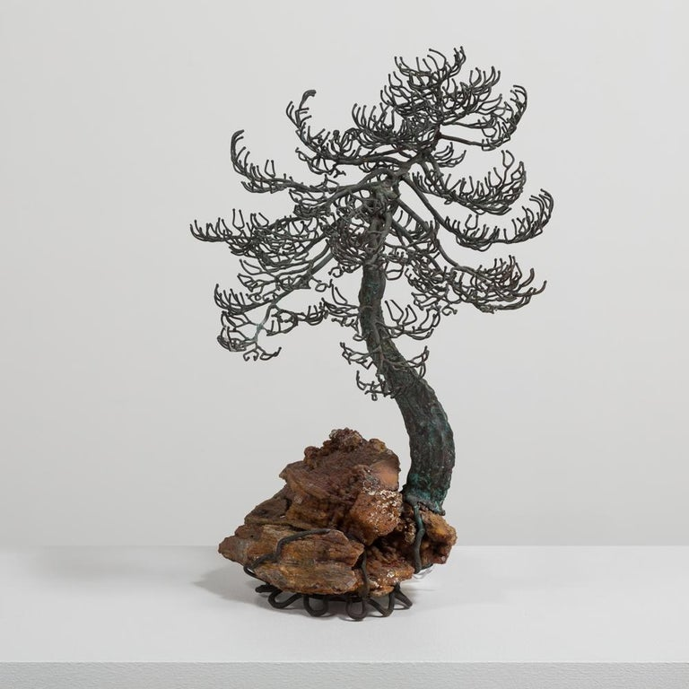 Superb Bronze Bonsai Tree Table Sculpture, 1960s In Good Condition For Sale In Queen Camel, Somerset
