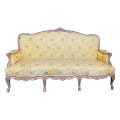 Superb Carved Gilded 19th Century Louis XV Settee or Sofa