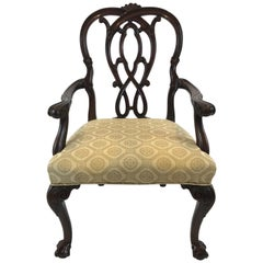 Superb Chippendale Style Mahogany Armchair by Karges