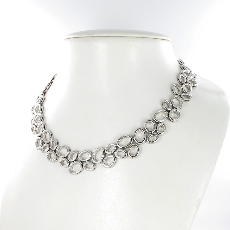 Brilliant Cut Superb Diamond Necklace in White Gold by Gübelin For Sale