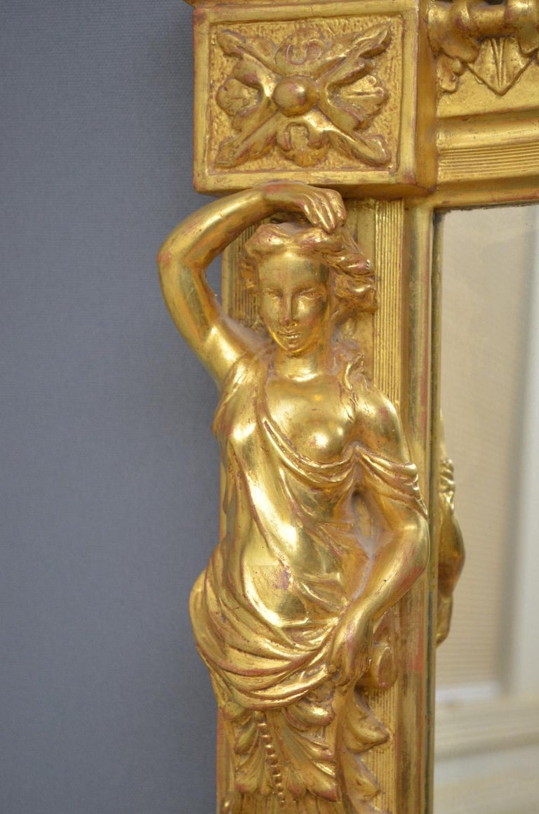 Mid-19th Century Superb Early 19th Century Giltwood Pier Mirror For Sale