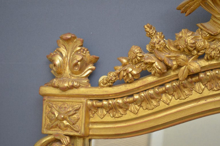Superb Early 19th Century Giltwood Pier Mirror For Sale 1