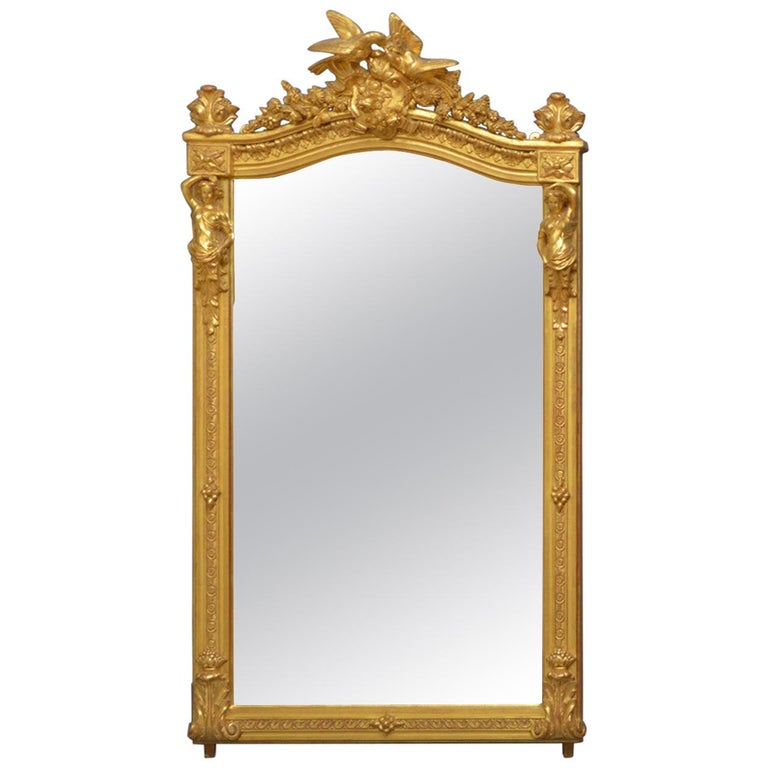 Superb Early 19th Century Giltwood Pier Mirror For Sale
