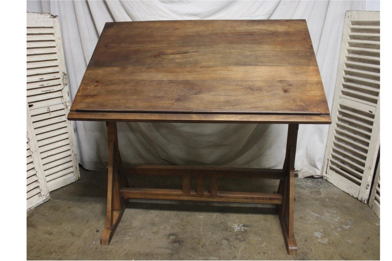 Superb Early 20th Century French Architected Table In Good Condition For Sale In Atlanta, GA