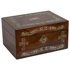 Superb Early Victorian Jewelry Box Vanity Box