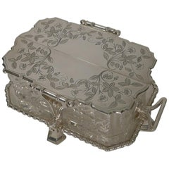 Superb Elkington Butter Dish in Silver Plate, circa 1883