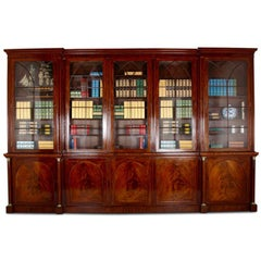 Superb 19th Century English Large Mahogany Bookcase