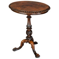 Superb Example of a Mid-19th Century Rosewood Oval Occasional Table
