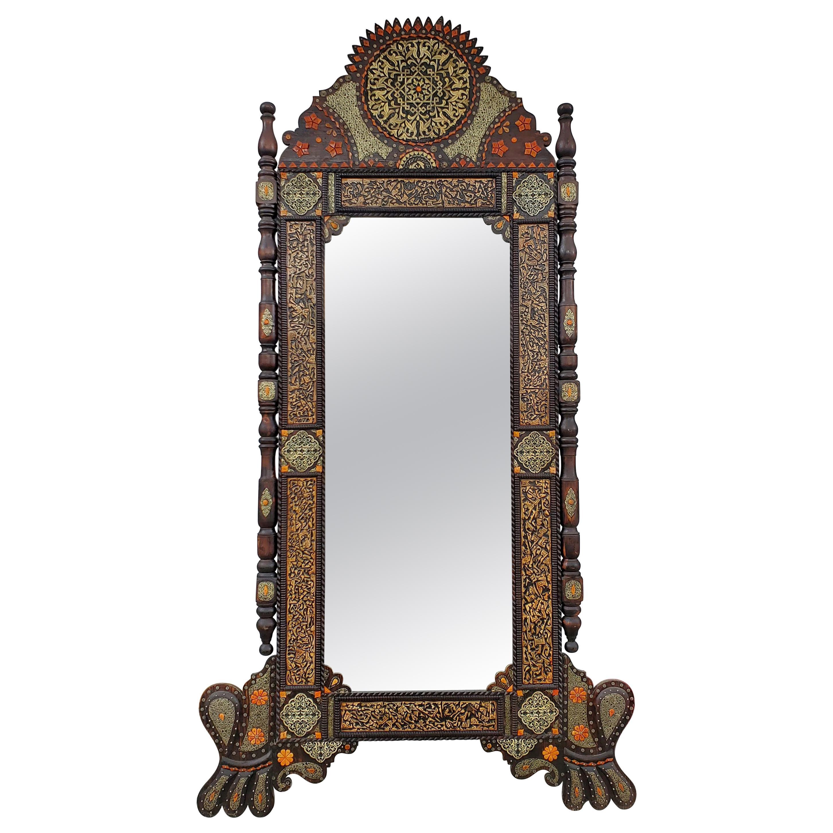 Superb Extra Large Vintage Moroccan Medallion Full Length Mirror At 1stdibs
