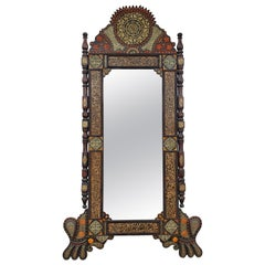 Superb Extra Large Vintage Moroccan Medallion Full Length Mirror