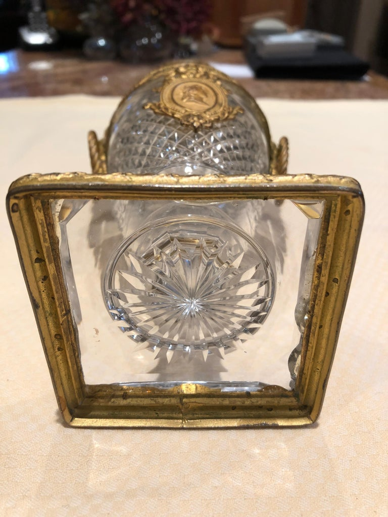 Superb French Cut Crystal and Ormolu Mounted Vase For Sale 4