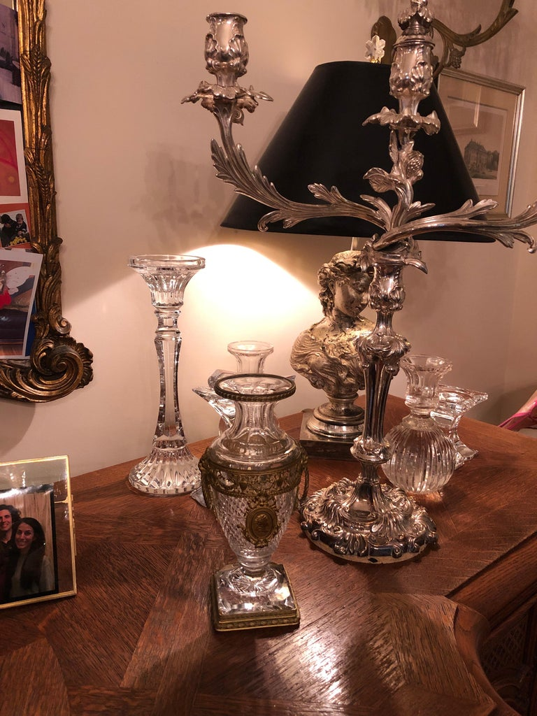Superb French Cut Crystal and Ormolu Mounted Vase For Sale 6