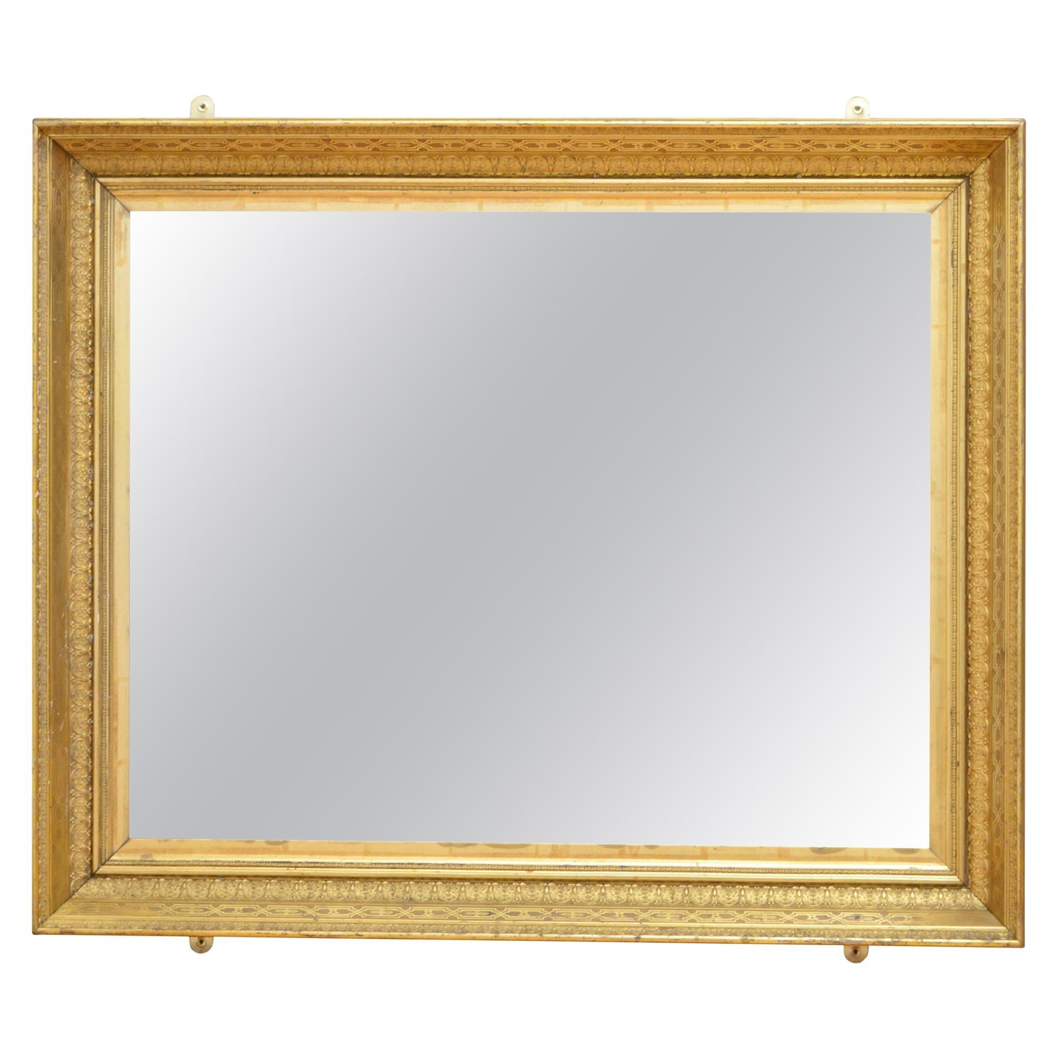 Superb French Giltwood Wall Mirror