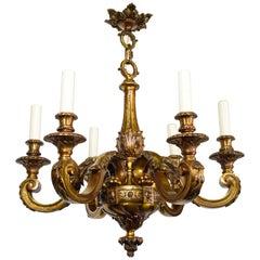 Superb Gilt Bronze Louis XVI Style Chandelier