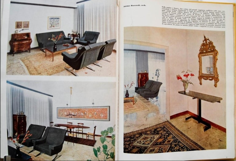 Superb 'Grand Prix' lounge chairs & sofa by Sculptor Maurice Calka, Arflex, 1960 For Sale 2