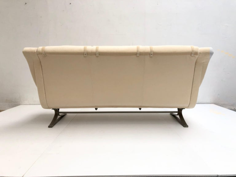 Superb 'Grand Prix' Lounge Set in Mohair by Sculptor Maurice Calka, Arflex, 1960 For Sale 3