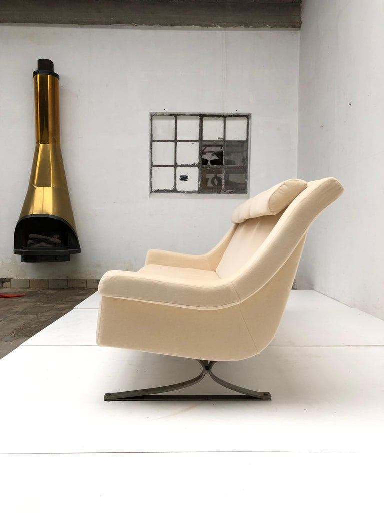 Superb 'Grand Prix' Lounge Set in Mohair by Sculptor Maurice Calka, Arflex, 1960 For Sale 12
