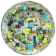 Superb, Hand Made Mid Century Ceramic Plate by Designer Ferenc Pal, 1970's
