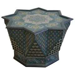Superb Hand Paint Coffee or Cocktail Star Table From Morocco