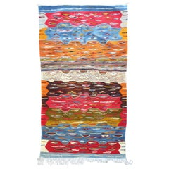 Superb Handwoven Reversible Moroccan Rug