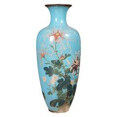Superb Japanese Cloisonné Enamel Vase
