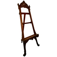 Superb Large 19th Century Carved Oak Easel