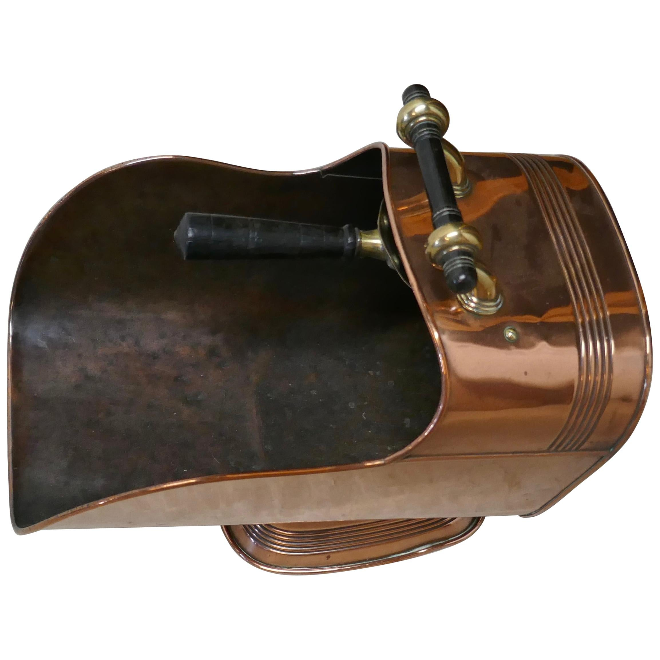 Superb Large Arts & Crafts Copper Helmet Coal Scuttle