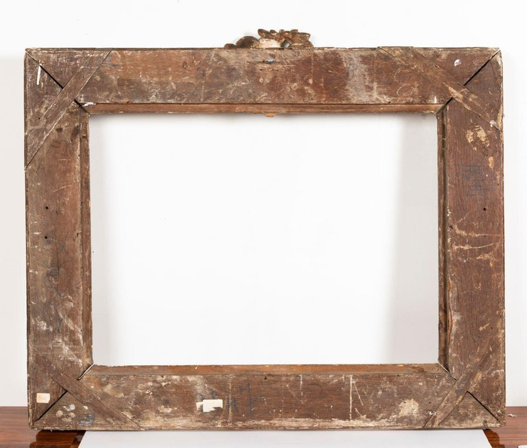 Superb Louis XV Period, Carved Giltwood Frame or Mirror France, Mid-18th Century For Sale 3