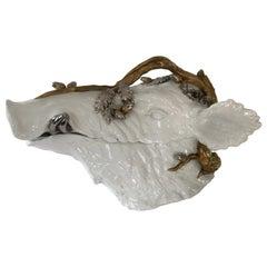 Superb Magnani Porcelain Wild Boar Soup Tureen
