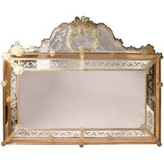 Superb Midcentury Venetian Mirror Murano signed Zanetti O