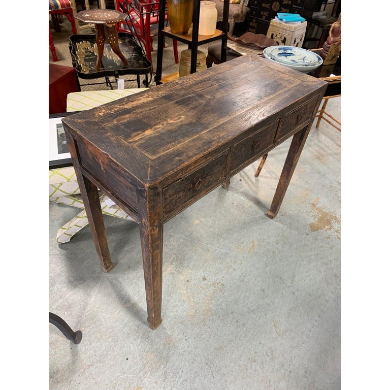 Chinese Superb Ming Style Console Table For Sale