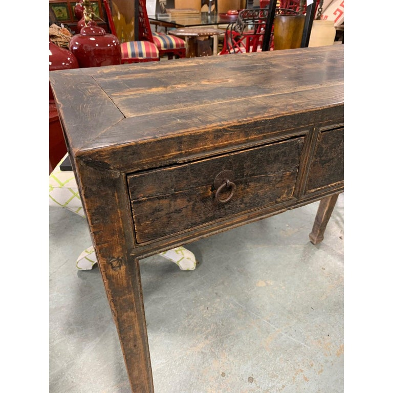 Superb Ming Style Console Table In Good Condition For Sale In West Palm Beach, FL