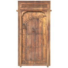 Superb Moorish Moroccan and Hand Carved Wood Door