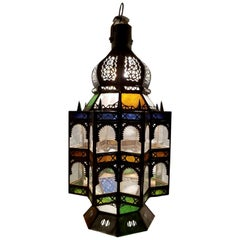 Superb Moroccan Rustic Lantern or Chandelier