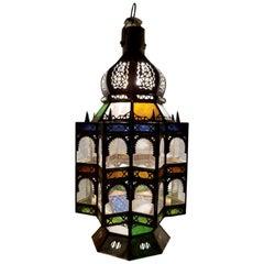 Superb Moroccan Rustic Lantern or Chandelier